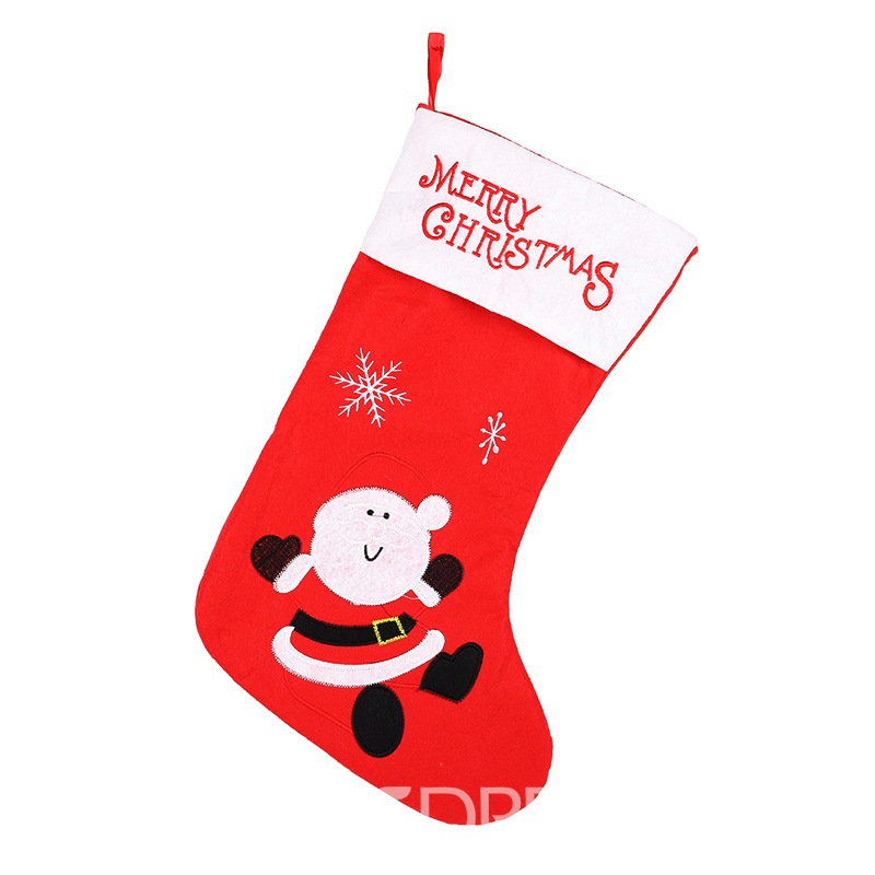 Ericdress Letter Christmas Socks Decoration Supplies