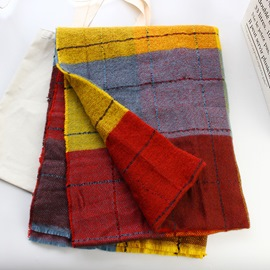 Ericdress Scarf Imitation Cashmere Plaid Scarves