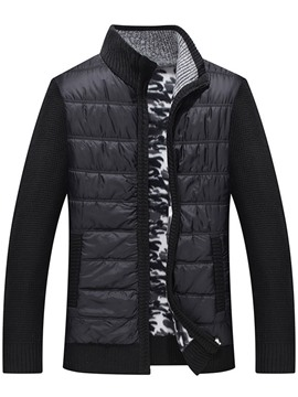 Ericdress Stand Collar Color Block Patchwork European Men's Down Jacket