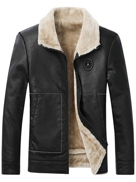 Ericdress Standard Lapel Zipper European Leather Jacket