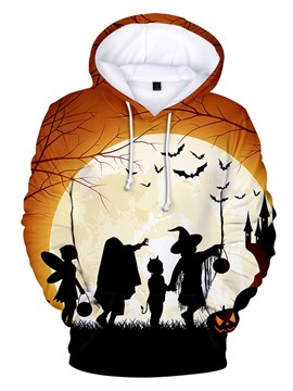 Ericdress Print Men's Fleece Loose Pullover Hoodies