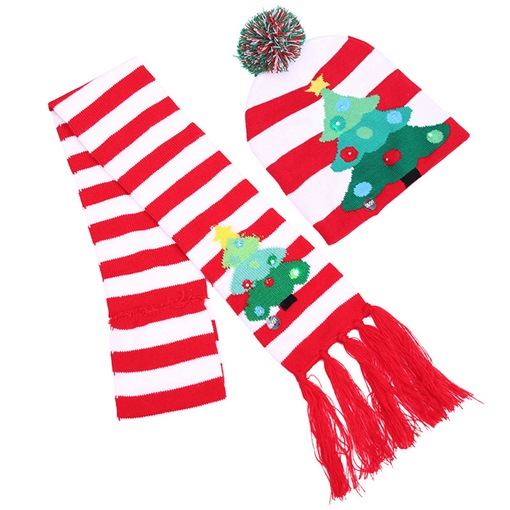 Ericdress Color Block Christmas Decoration Scarf&hat Supplies