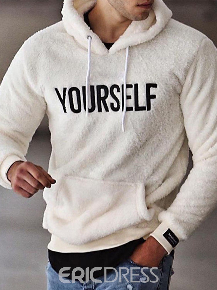 Ericdress Thick Letter Pullover European Hoodies