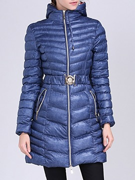Ericdress Zipper Mid-Length Cotton Padded Jacket