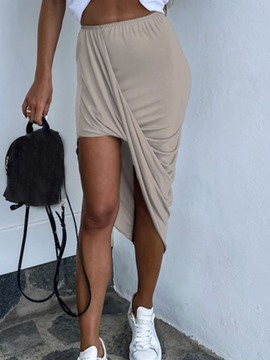 Ericdress Asymmetrical Plain Asymmetric Sexy Skirt