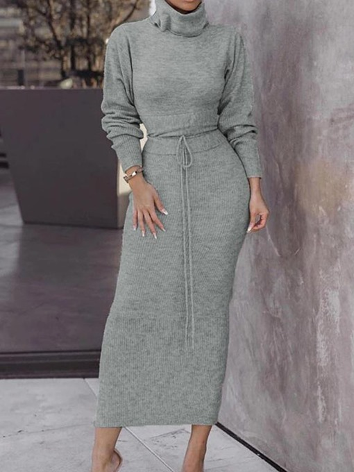 Ericdress Sweet Skirt Plain Pullover Bodycon Two Piece Women's Sets
