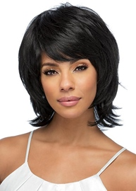 Ericdress Women's Shaggy Layered Hairstyles Natural Straight Human Hair Capless Wigs 12Inch