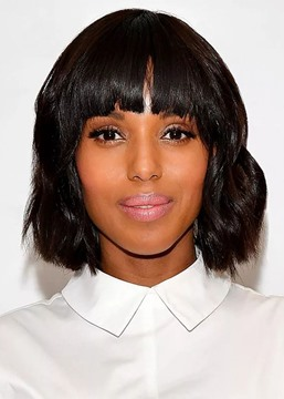 Ericdress African American Women's Short Bob Hairstyle Wavy Human Hair Capless Wigs 12Inch