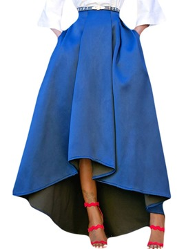 Ericdress Asymmetric Plain Asymmetrical Casual Skirt