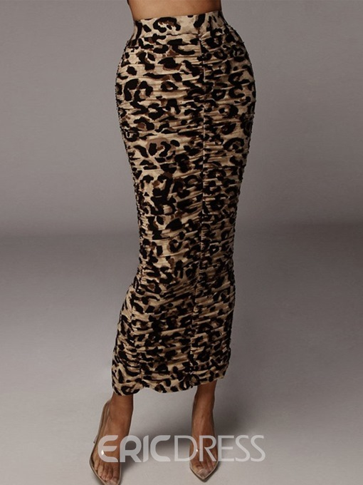 Ericdress Split Serpentine Bodycon Western Skirt