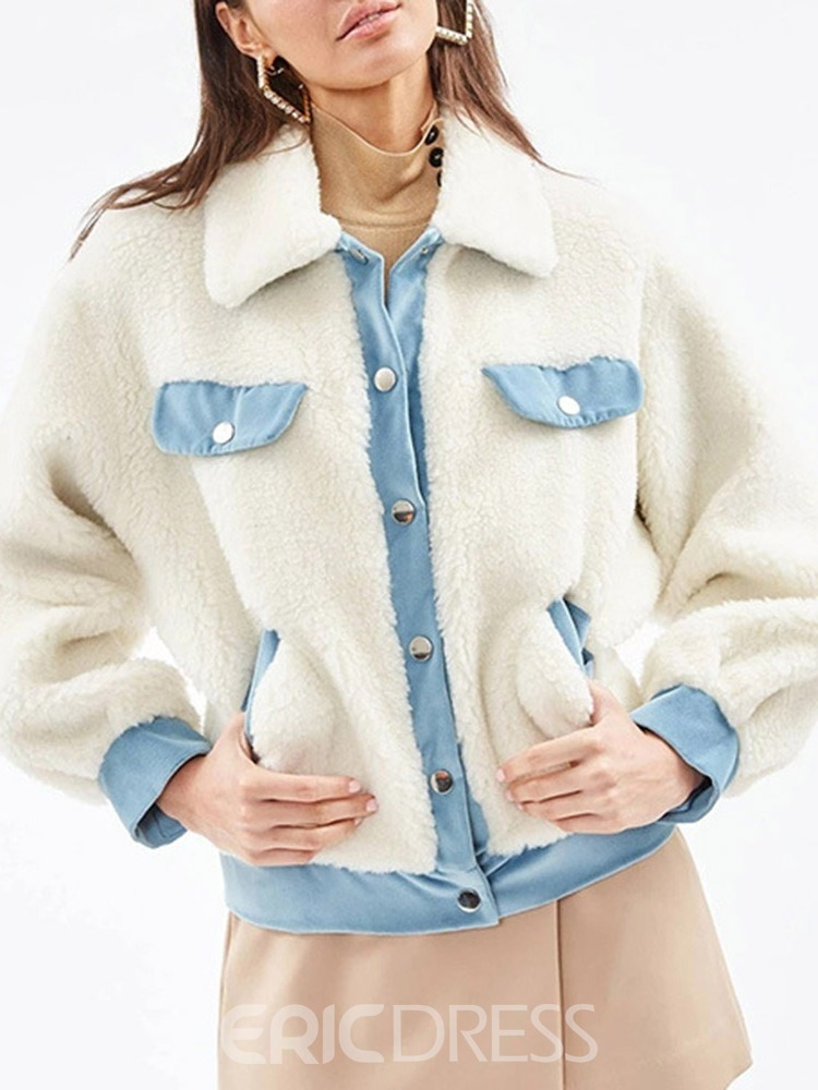 Ericdress Thick Single-Breasted Long Sleeve Regular Standard Jacket