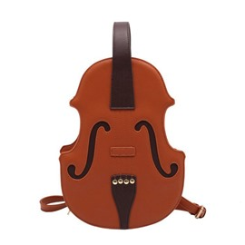Ericdress Color Block PU Guitar Backpacks