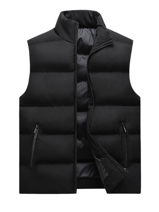 Ericdress Zipper Stand Collar Plain Zipper Winter Waistcoat