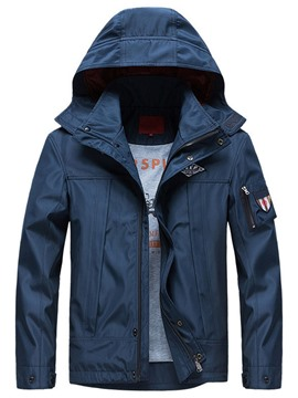 Ericdress Appliques Stand Collar Men's Zipper Loose Jacket