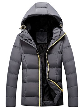 Ericdress Zipper Plain Standard Men's Casual Down Jacket