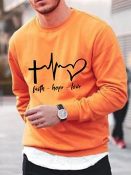 Ericdress Pullover Print Casual Loose Men's Hoodies