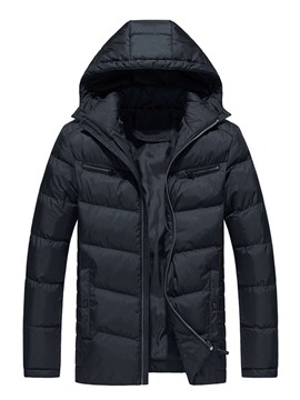 Ericdress Pocket Stand Collar Plain Zipper European Down Jacket