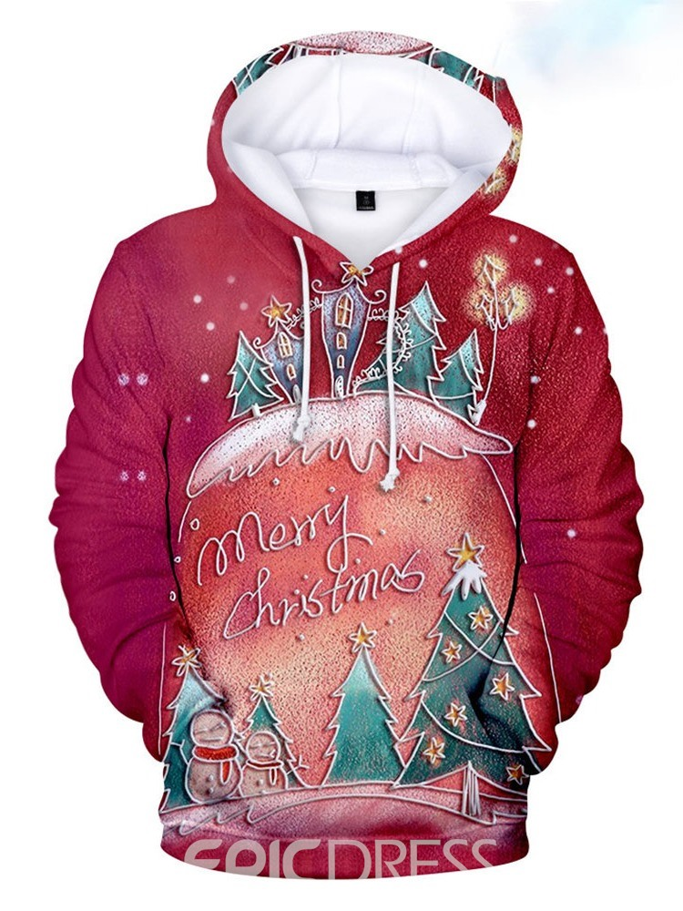 Ericdress Print Pullover Letter Casual Hooded Hoodies