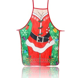 Ericdress Polyester Cartoon Christmas Apron Decoration Supplies