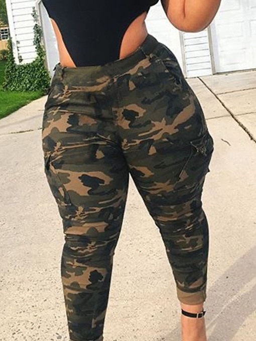 Ericdress Camouflage Skinny Pencil Pants Ankle Length Casual Pants