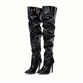 Ericdress Stiletto Heel Plain Side Zipper Western Boots