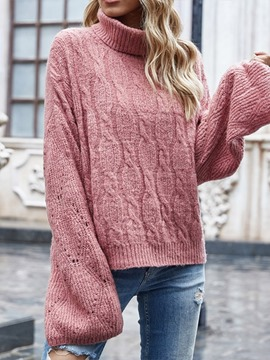 Ericdress Patchwork Flare Sleeve Thin Long Sleeve Fall Sweater