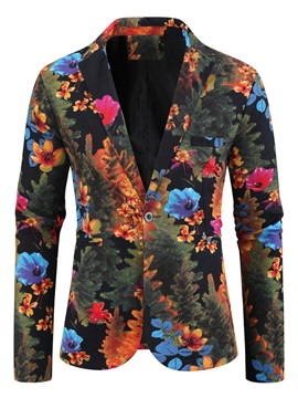 Ericdress Print Notched Lapel Floral Leisure Blazer