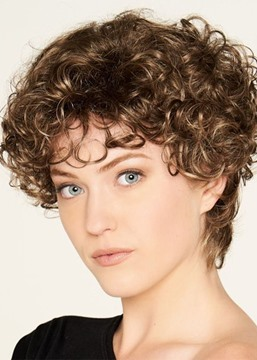 Ericdress Women's Short Length Hairstyles Kinky Curly Synthetic Hair Capless Wigs 10Inch