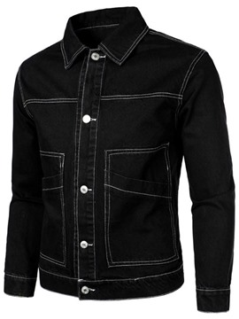 Ericdress Pocket Plain Lapel Men's Slim England Jacket