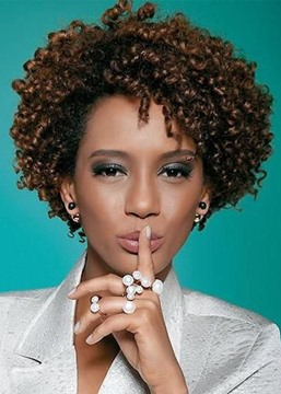 Ericdress Natural Looking Women's Afro Kinky Curly Synthetic Hair Capless Wigs 10Inch