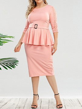 Ericdress Sweet Skirt Plain Pullover Bodycon Women's Two Piece Sets