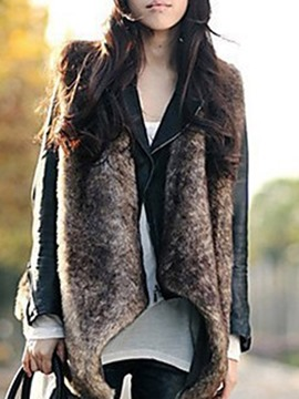 Ericdress Flocking Plain Standard Fall Vest