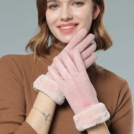 Ericdress Animal Suede Winter Gloves