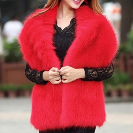 Ericdress Fur Shawl Plain Scarves