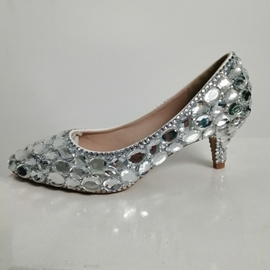 Ericdress Slip-On Rhinestone Stiletto Heel 7cm Thin Shoes