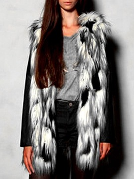 gilet d'hiver mi-long tie-dye color block
