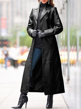 trench-coat western à manches longues et boutonnage simple ericdress