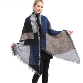 Ericdress Euroamerica Imitation Cashmere Color Block Scarves