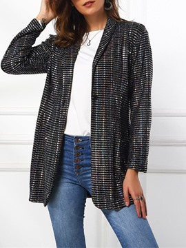 Ericdress Notched Lapel Long Sleeve One Button Fall Regular Casual Blazer