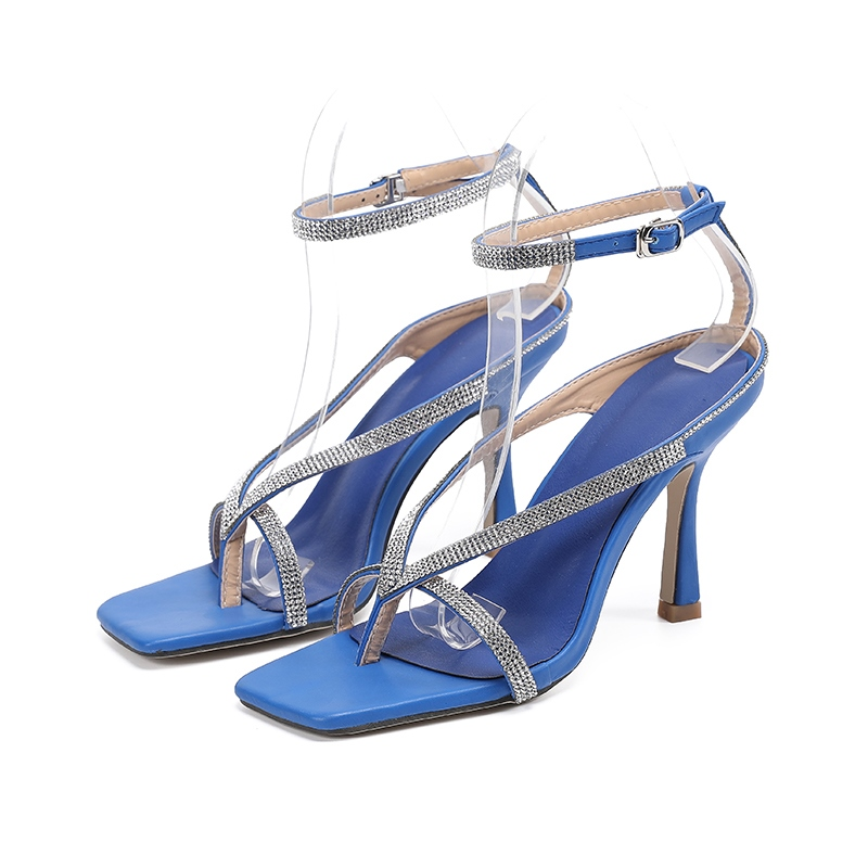 Ericdress Line-Style Buckle Ankle Strap Thong Plain Sandals