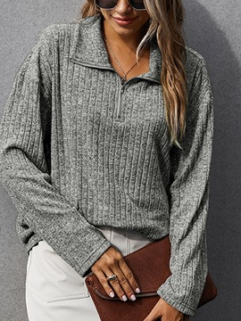 Ericdress Zipper Regular Loose Fall Sweater