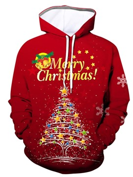 Ericdress Christmas Letter Print Pullover Hoodies
