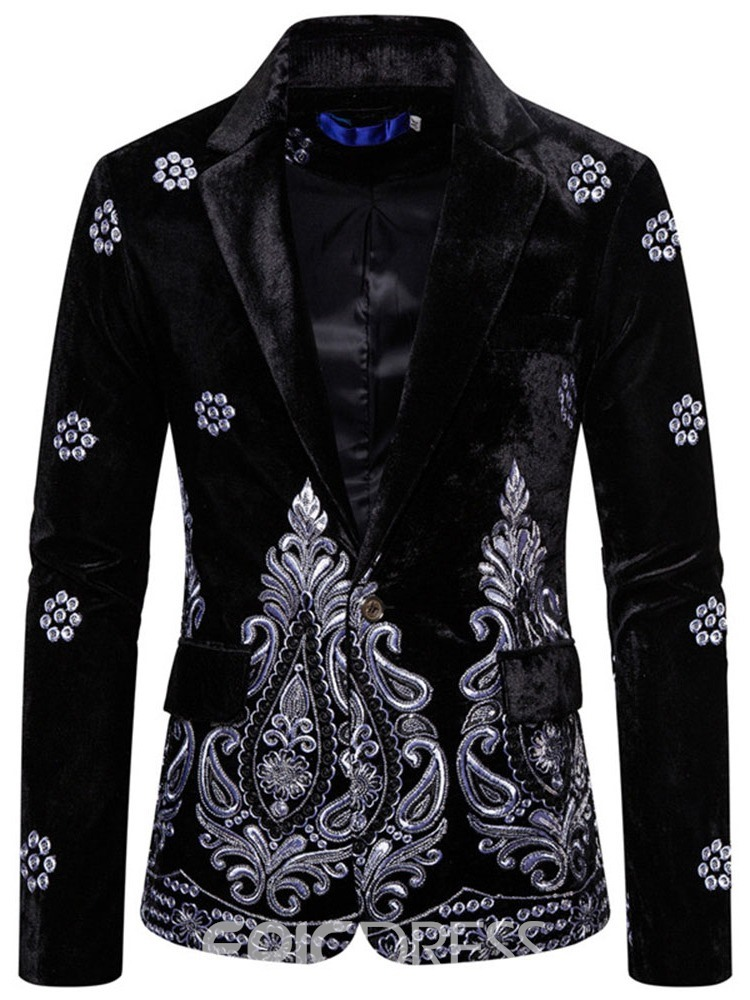 Ericdress Casual Slim Embroidery Leisure Blazer