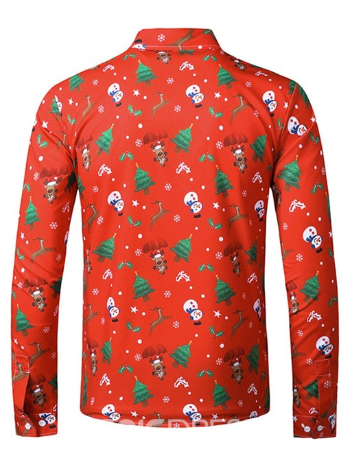Ericdress Floral Lapel European Single-Breasted Winter Shirt