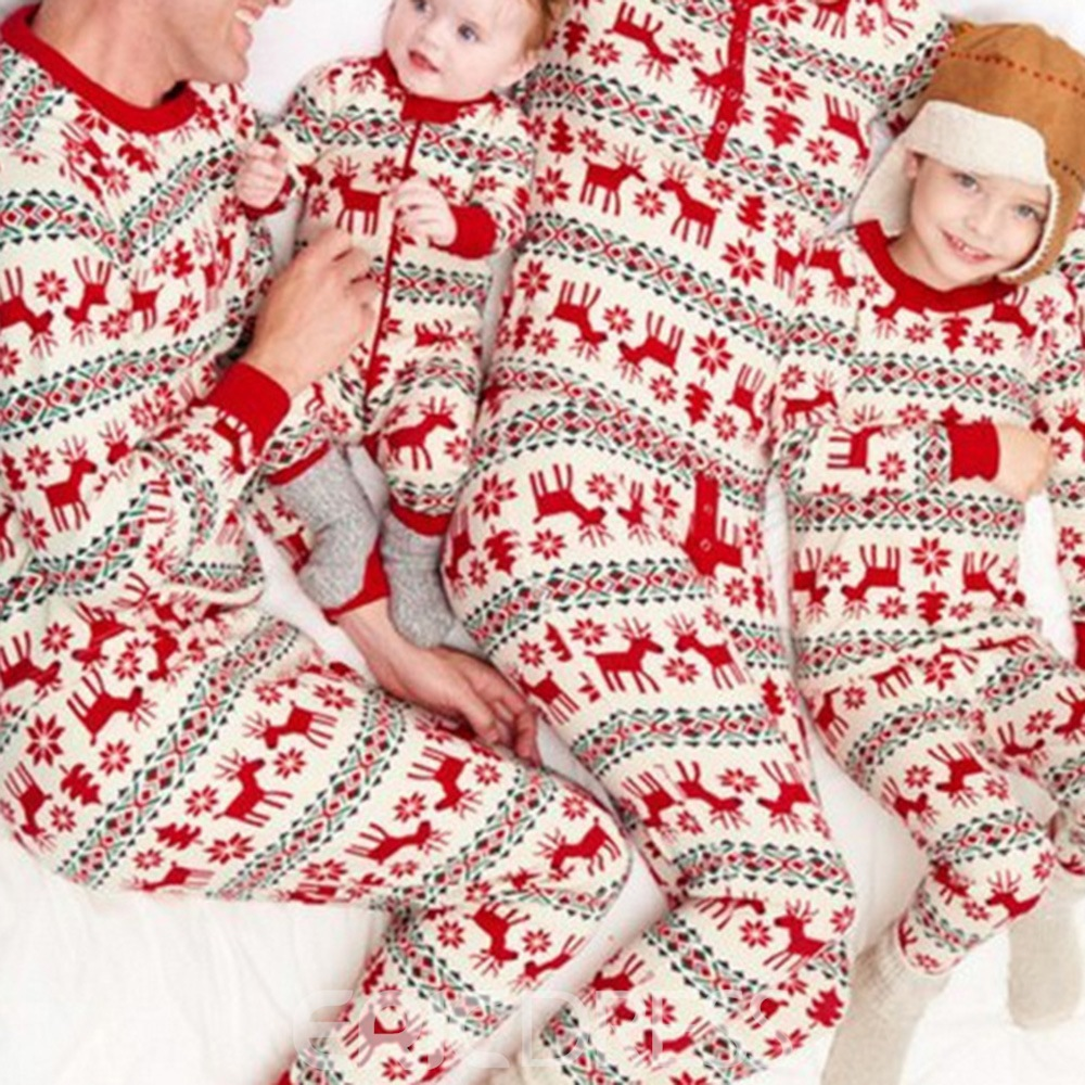 Ericdress Christmas Parent-Child Outfit Loungewear