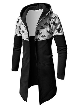 Ericdress Cardigan Camouflage Print Men's Slim Fall Hoodies