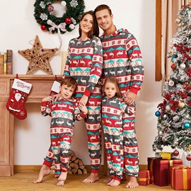 Ericdress Christmas Parent-Child Outfit Leisure Wear Suit