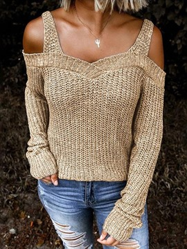 Ericdress Backless Thin Fall Long Sleeve Sweater