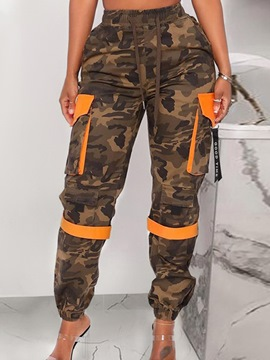 Ericdress Patchwork Slim Camouflage Ankle Length Overall Casual Pants