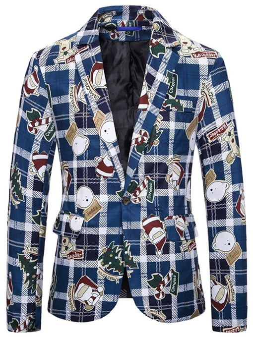 Ericdress Christmas One Button Casual Notched Lapel Leisure Blazer